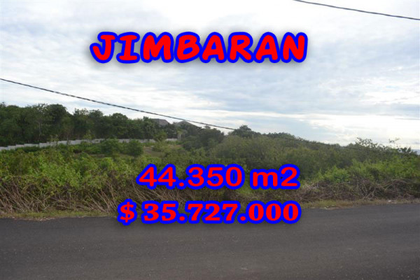 Land for sale in Bali, Unbelievable view in Jimbaran Bali – 44.350 sqm @ $ 806