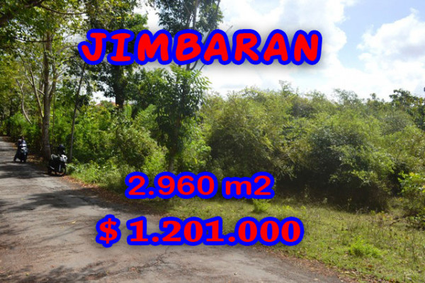 Land for sale in Bali, Beautiful view in Jimbaran Bali – 2.960 sqm @ $ 406