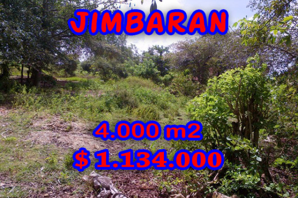Splendid Property for sale in Bali, Jimbaran land for sale – 4.000 m2 @ $ 283