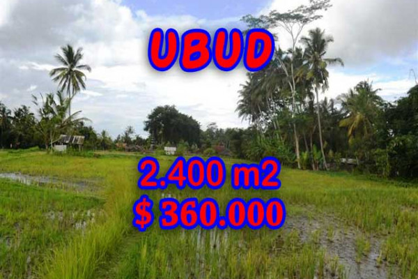 Exceptional Property in Bali, Land in Ubud Bali for sale – 2.400 m2 @ $ 150