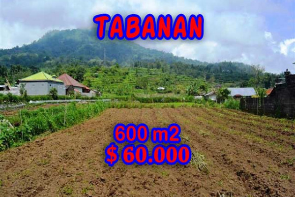 Exotic Property for sale in Bali, Land in Tabanan for sale– 600 m2 @ $ 100