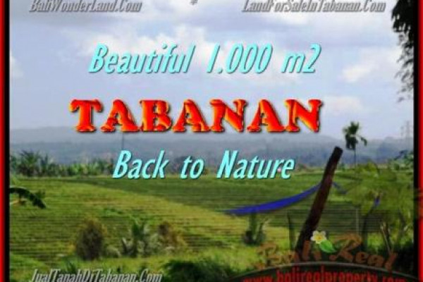 FOR SALE Magnificent PROPERTY 1.000 m2 LAND IN TABANAN BALI TJTB155