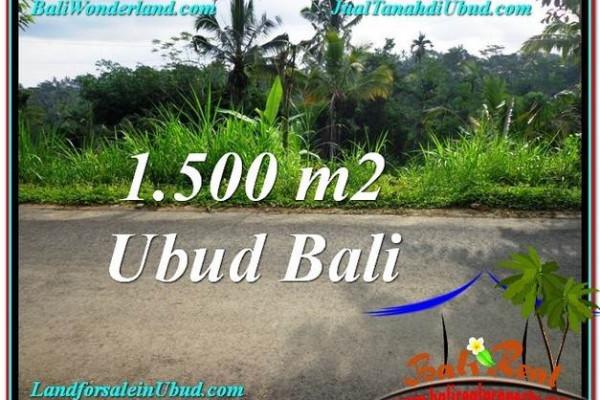 FOR SALE Beautiful 1,500 m2 LAND IN UBUD BALI TJUB556