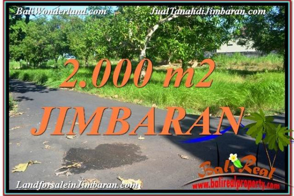 Affordable 2,000 m2 LAND IN Jimbaran Uluwatu  FOR SALE TJJI114