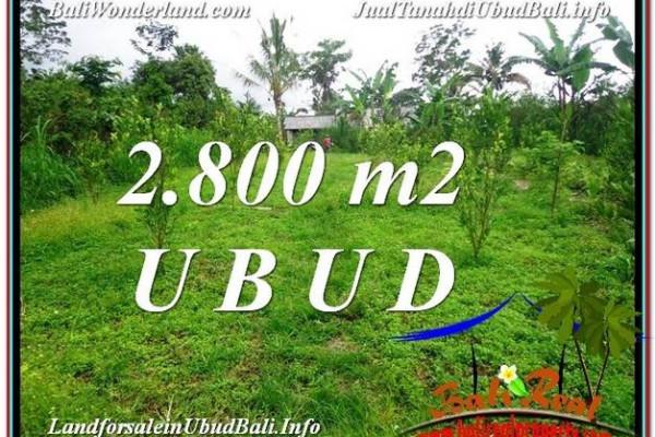Magnificent 2,800 m2 LAND IN UBUD BALI FOR SALE TJUB592