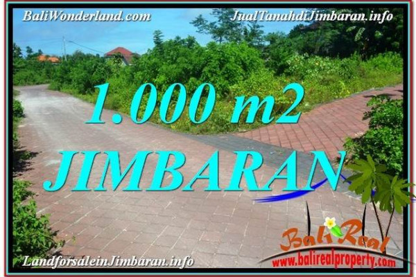 Magnificent PROPERTY 1,000 m2 LAND SALE IN JIMBARAN BALI TJJI111