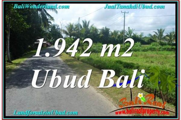 Affordable 1,942 m2 LAND SALE IN UBUD TJUB626