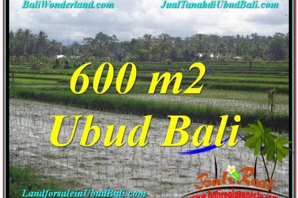 600 m2 LAND IN UBUD BALI FOR SALE TJUB607