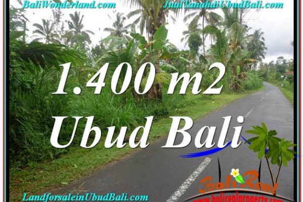 Exotic 1,400 m2 LAND FOR SALE IN UBUD BALI TJUB612