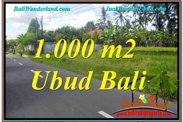 FOR SALE Beautiful PROPERTY 1,000 m2 LAND IN Sentral / Ubud Center TJUB649