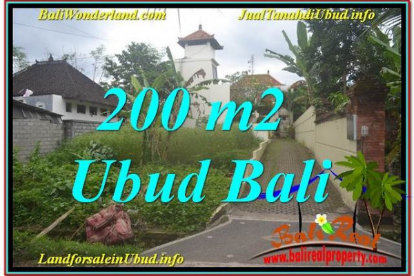 Magnificent PROPERTY Sentral / Ubud Center 200 m2 LAND FOR SALE TJUB632