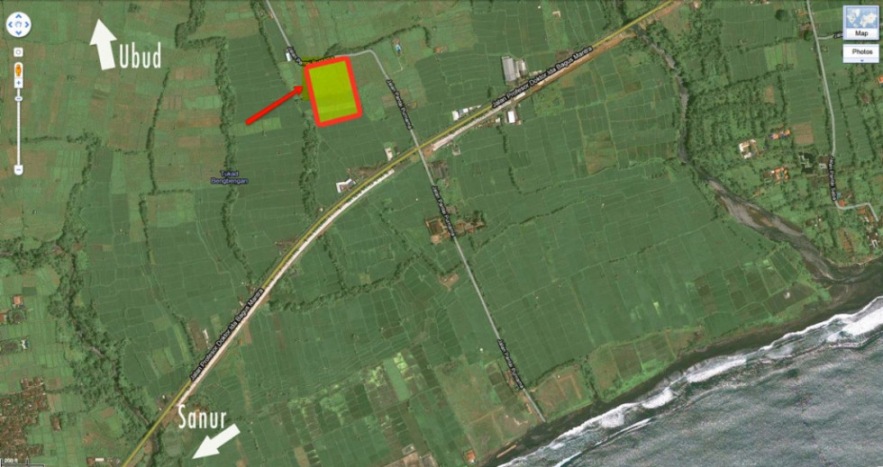 Land for sale in Ketewel Bali with Sanur Beach View