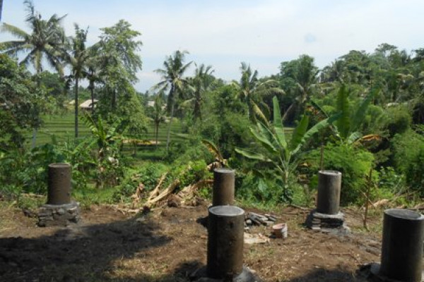 Land for sale in Ubud Bali panoramic view in town – LUB183