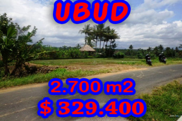 Land for sale in Ubud 27 Ares in Ubud Pejeng – TJUB192E