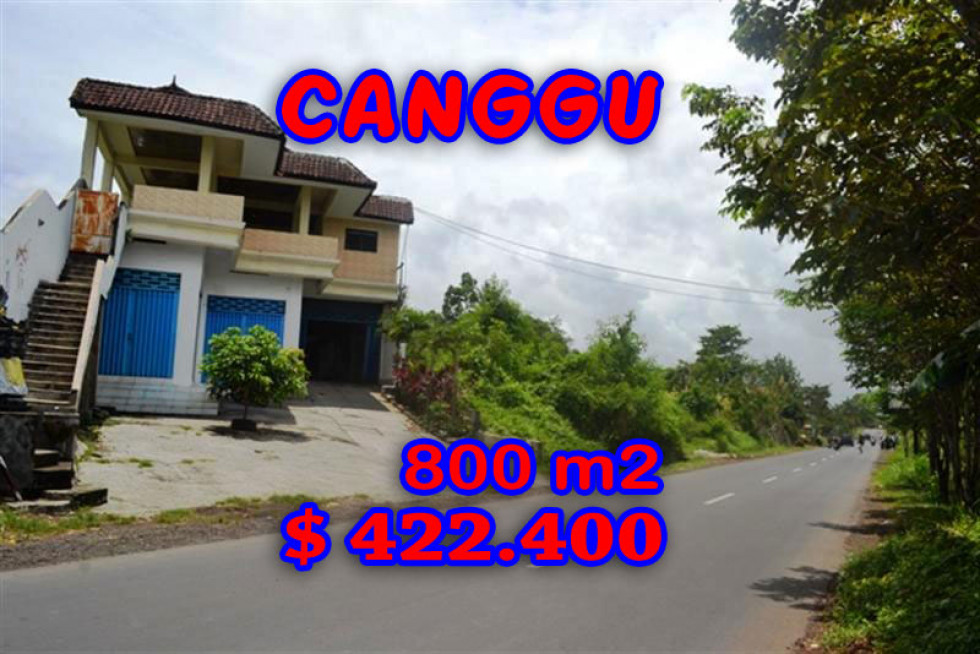 Land in Canggu Bali For sale 800 m2 with Rice fields and river view – TJCG094E