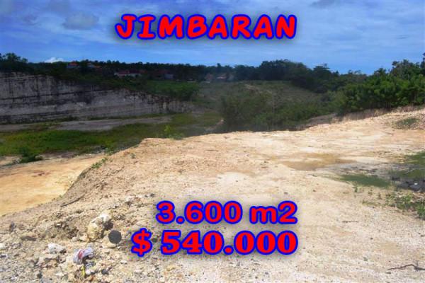 Land for sale in Jimbaran 3,600 sqm Suitable for villa – TJJI024