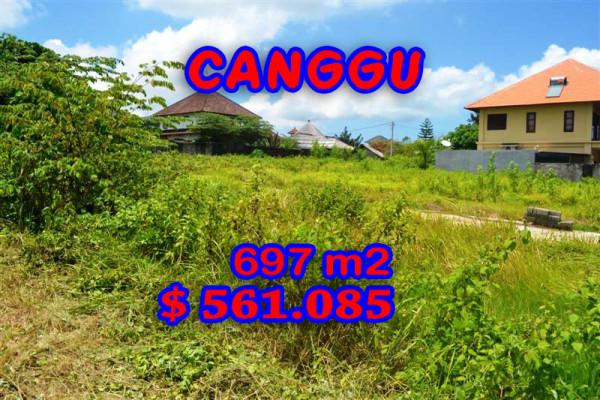Land for sale in Canggu 697 m2 Stunning Close to Berawa Beach – TJCG097E