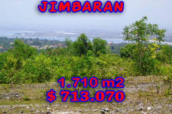 Land for sale in Jimbaran Bali 1,710 sqm in Jimbaran Ungasan – TJJI027E