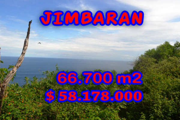 Exceptional Property in Bali, Land in Jimbaran Bali for sale – 66.700 m2 @ $ 872
