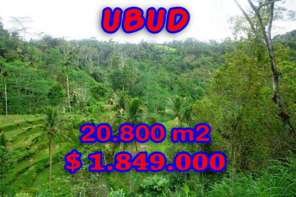 Land for sale in Bali, Extraordinary view in Ubud Bali – 20,800 sqm @ $ 89