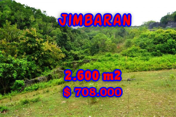 Land in Bali for sale, Eye-catching view in Jimbaran Bali – 2.600 sqm @ $ 272