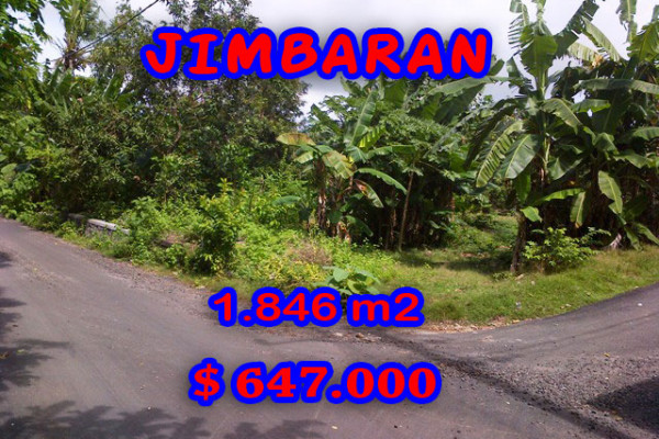 Land in Bali for sale, Excellent Property in Jimbaran Bali – 1.846 sqm @ $ 350