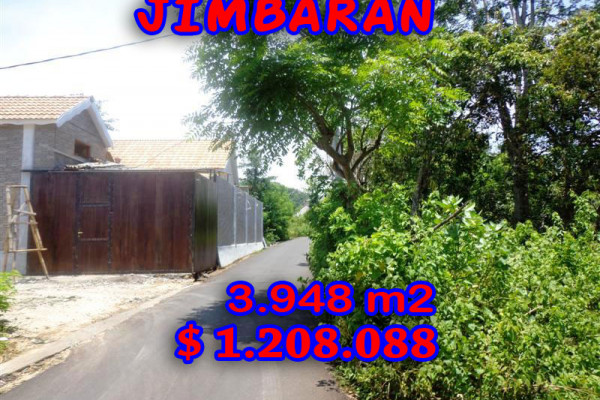 Astounding Property for sale in Bali, Land in Jimbaran for sale– 3.948 sqm @ $ 306