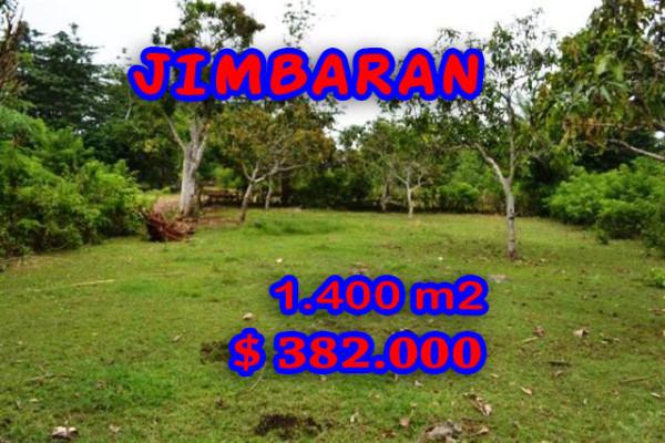 Land for sale in Bali, Beautiful view in Jimbaran Bali – 1.400 sqm @ $ 272