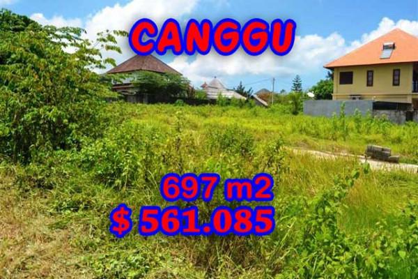 Land for sale in Bali, Incredible property in Canggu Bali – 697 m2 @ $ 806