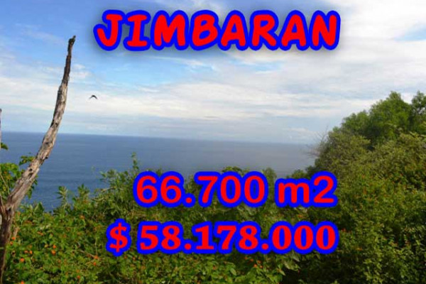 Land for sale in Bali, Incredible view in Jimbaran Bali – 66.700 m2 @ $ 872