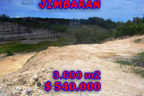 Attractive Property for sale in Bali, Jimbaran land for sale – 3.600 m2 @ $ 150
