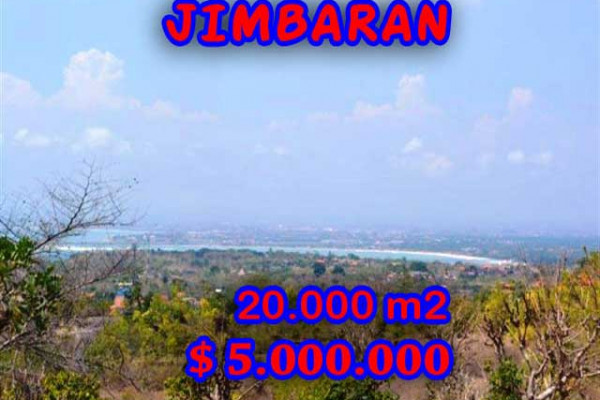Land for sale in Bali, Interesting view in Jimbaran Bali – 20.000 m2 @ $ 250