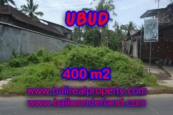 Land for sale in Bali, Fantastic view in Ubud Bali – 400 m2 @ $ 435