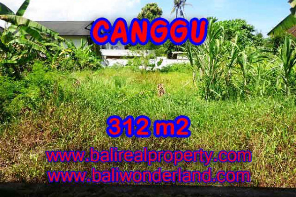 Exotic Property for sale in Bali, Land in Canggu for sale– 312 m2 @ $ 460