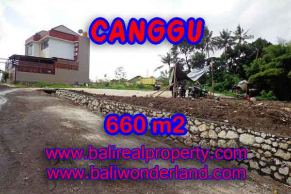 Land for sale in Bali, Fantastic view in Canggu Bali – 660 m2 @ $ 385
