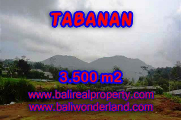 Land in Bali for sale, Great view in Tabanan Bali – 3.500 m2 @ $ 90
