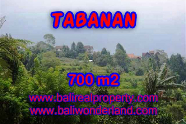 Land for sale in Bali, Outstanding view in Tabanan Bali – 700 m2 @ $ 195