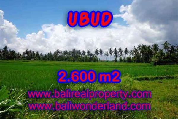 Property for sale in Ubud Bali, Superb land for sale in Ubud Center – 2.600 m2 @ $ 195
