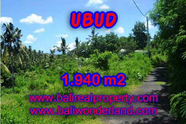 Beautiful Property for sale in Bali, land for sale in Ubud Bali – 1.940 m2 @ $ 275