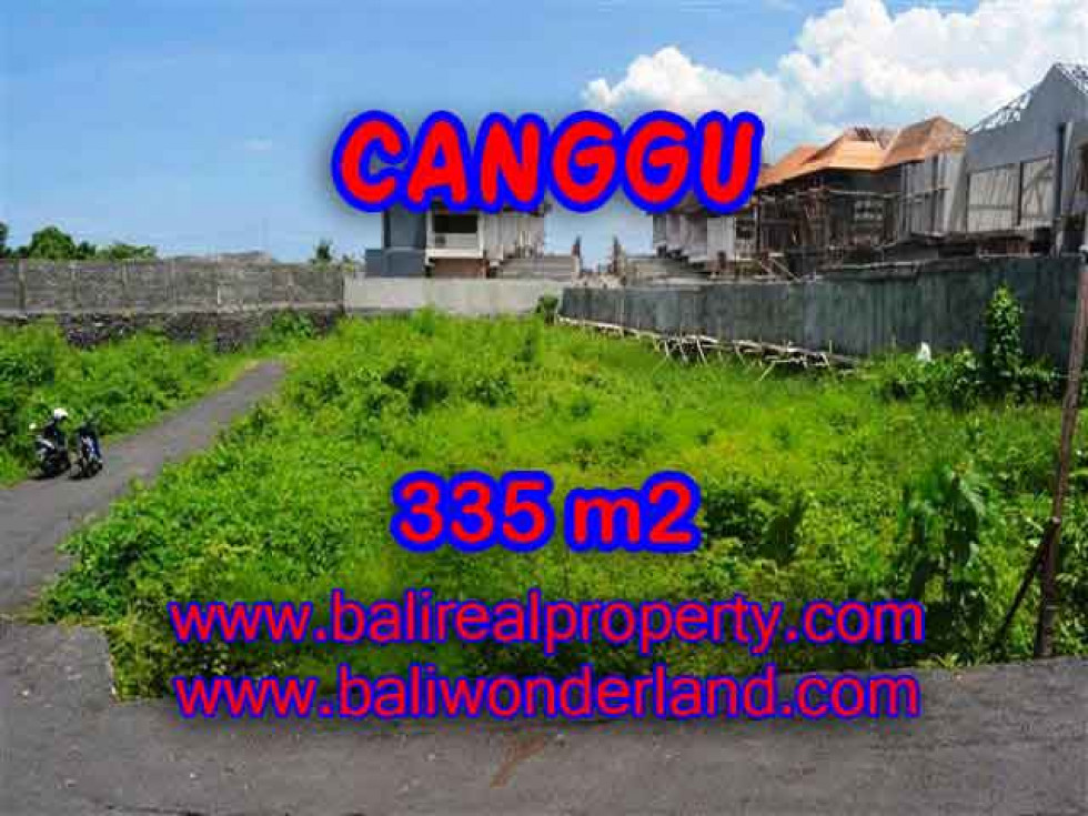 Attractive Property for sale in Bali, Canggu land for sale – 335 m2 @ $ 385