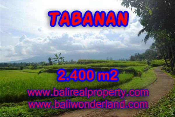 Exotic Property for sale in Bali, Land in Tabanan for sale– 2.400 m2 @ $ 95