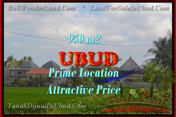 Land for sale in Bali, Exceptional view in Ubud Bali – 950 m2 @ $ 585