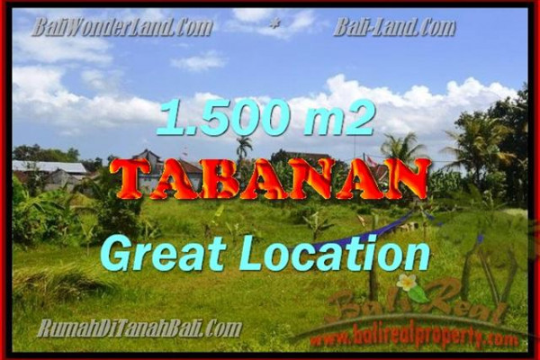 Property for sale in Tabanan Bali, Superb land for sale in Tabanan Kota ( City )  – 1.500 m2 @ $ 175