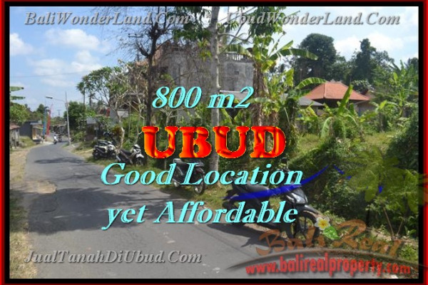 Land for sale in Bali, Outstanding view in Ubud Bali – 800 m2 @ $ 345