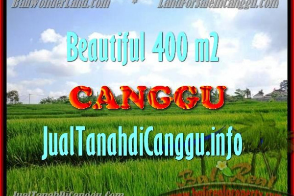 Affordable Canggu Pererenan BALI 400 m2 LAND FOR SALE TJCG156