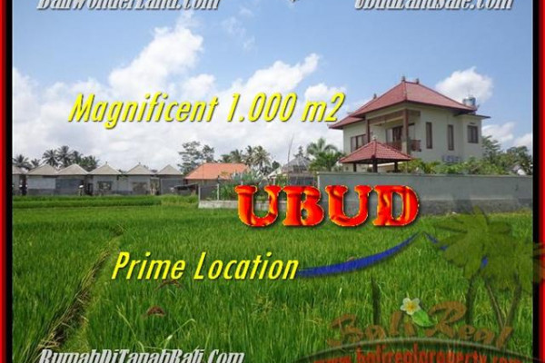 Magnificent 1.000 m2 LAND IN UBUD FOR SALE TJUB445