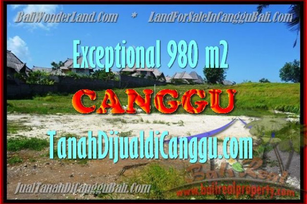 Affordable PROPERTY CANGGU 980 m2 LAND FOR SALE TJCG152