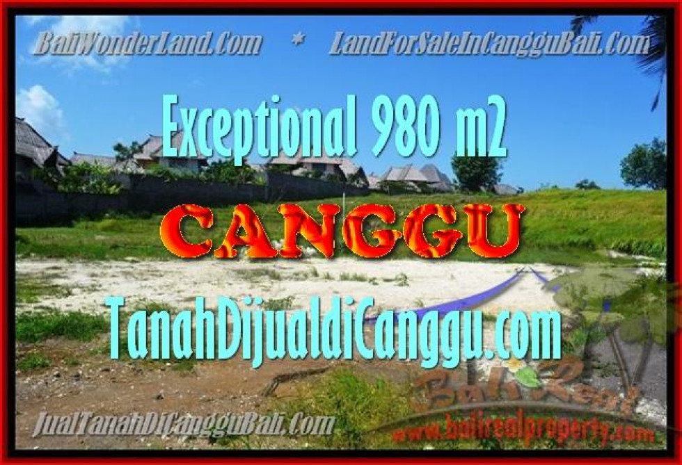Affordable PROPERTY CANGGU 980 m2 LAND FOR SALE TJCG152