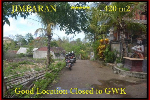 Affordable 420 m2 LAND FOR SALE IN Jimbaran BALI TJJI083