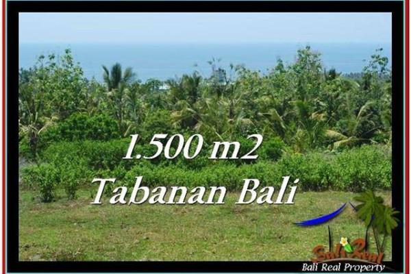 FOR SALE Exotic PROPERTY 1,500 m2 LAND IN TABANAN BALI TJTB234
